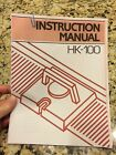 COPY Singer HK-100 Knitting Machine INSTRUCTIONS Clothes Patterns Sweater pdf