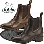 NEW Dublin Defy Front Zip Paddock Boots Black & Brown - Many Sizes!!