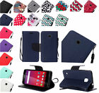 PU Leather Wallet Pouch Case Cover w/Strap For Huawei Union Y538 Phone