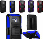 Rugged Stand Case Cover w/Holster Belt Clip For Alcatel OneTouch Fierce XL 5054