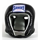 Sandee Open Face Head Guard Muay Thai Boxing MMA - Black Red Blue