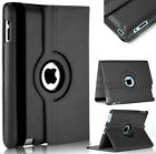 Leather 360 Degree Rotating Stand Case Cover For iPad 2 3 4 5 6 & iPad Air 2