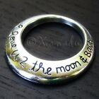 Moon And Back Charms Wholesale Antiqued Silver Pendants C4099 - 5, 10 Or 20PCs