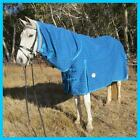 LOVE MY HORSE  5'3 - 6'6 18OZ Unlined Turnout Combo Canvas Rug Teal Trim
