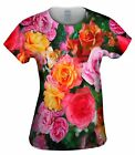 Yizzam- Bright Day Rose Bouquet - New Womens Top Shirt Tshirt XS S M L XL 2XL 3