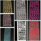 2 XGlitter Crystals Alphabet Letter Sticker Self Adhesive A-Z Words Stick Decor