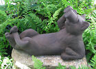Cast Stone Cement Reclining Birdwatching Cat Outdoor Garden Statue