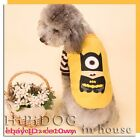 1PCS Cool Dog Clothes Cartoon Minions Hoodie Sweater Puppy Clothing Cat Apparel