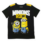 "Despicable Me Minions Boys Black ""Minions Rock"" Short Sleeve Graphic T Shirt"