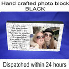 "Personalised 6x4"" plaque with photo best friends friendship quote unique gift"