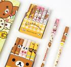 6 pcs Cute Rilakkuma Bear Pencil Cap Cover Topper Extender