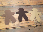 GINGER BREAD Cardstock  Shape 25 pieces QUALITY Pick Your Color