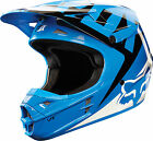 10951-002 Fox Helmet V1 Race Adult Motorcycle MX ATV Off Road Blue Helmet