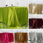"90x156"" SATIN Rectangular Large Tablecloths Wedding Party Catering Decorations"