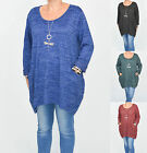 LAGENLOOK BAGGY JUMPER DRESS/TOP SOFT STRETCH OSFA PLUS SIZE 18 20 22 24 NEW T19