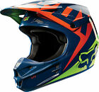 10951-046 Fox Helmet V1 Race Adult Motorcycle MX ATV Off Road NVY YLW  Helmet