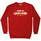 Made in Oakland V2 Sweatshirt Crewneck - CA California Raiders A's - Men S-3XL