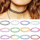 Gothic 11 Colors Tattoo Choker Chunky Stretch Necklace Boho 90s Party Necklaces
