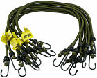 "20 x Elasticated Bungees Cords Bungee Military Army Basha Straps 30"" 18"" 12"" 8mm"