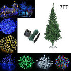 3346# 7FT Artificial Christmas Tree Outdoor & Solar 20M 200 Leds String Light
