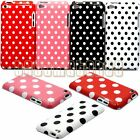 for ipod touch 4TH 4 TH 4 GEN itouch hard back case polka dot red pink white