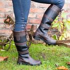 Ladies Horse Riding Country Boots -Stable Water Resistant Leather Winter Walking