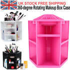 Spinning Cosmetic Organiser Cleanup 360° Rotating Makeup Box Brush Holder Case