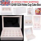 Deep White Cupcake Boxes with Window Holds Cup cakes in each box Baking Party