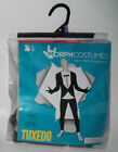 NEW Tuxedo Morphcostume Morph Costume Suit Mens Size Medium 32-34 Black White