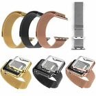 Magnetic Milanese Loop Watch Band Color Metal Plated Cover For Apple Watch 38/42