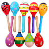 More images of Random Wooden Wood Maraca Rattles Shaker Percussion Kid Baby Musical Toy Gift