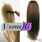 Silky Straight Machine Weft  100% Indian Remy Human Hair Half Wig Hair Extension