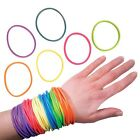 Silicone Gummy Band Jelly Rubber Wristbands Kids Bracelet (WHOLESALE BULK LOT)