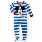 Disney Baby Boys 1 Piece Blue/White Stripe Mickey Mouse Long Sleeve Asymmetrical