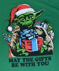 Star Wars Christmas T-Shirt Yoda May The Gifts Be With You Officially Licensed $19.62 CAD on eBay