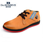 Do.BOMRVII Men's Casual Lace Up Flats Nubuck Leather Shoes Ankle Boots 4 Colors
