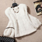 100% Knitted Mink Fur Pullover Poncho Jacket Coat Cape Sweater Best Warm Hot