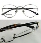 Men Eyeglass frames Vintage round spring hinges optical silver/gunmetal New