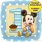 MICKEY OR MINNIE MOUSE 1ST BIRTHDAY PARTY SUPPLIES 45cm FOIL BALLOON DECORATIONS