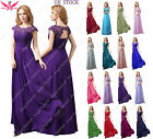 New Long Maxi Evening Bridesmaid Formal Party Prom Dress Gown size 8 -24