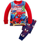 2pcs Kids Boy Spiderman Printed Sleepwear Nightwear Pajama Set Pj's Outfits 1-7Y
