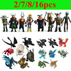 How to Train Your Dragon Action Figures Astrid Hiccup Toothless 2/7/8/16pcs Set