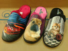 New Womens Boys Slippers Scuff Mules Shoe Animal Cat Dog Car Design Slip On Size
