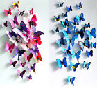 3D Butterfly Sticker Art Decal Wall Stickers Home Decor Room Decorations 12pc