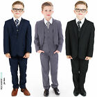 Boys Suits, Boys Wedding Suits, Page Boy Suits, Grey Navy Black (0-3 to 14 Yrs)