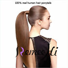 "15""-22"" Wholesale Fashion High  Ponytail clip-on Remy Human Hair Extensions 80g"