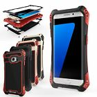 R-JUST Shockproof Rugged Water-Resistant Fiber Metal Case for Samsung Galaxy