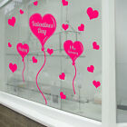 Happy Valentines Day Wall & Window Stickers Decals Shop Window Display Love A319