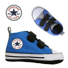 Converse Blu-Blk All Star Baby Crib Boy Girl Infant Trainer Soft Sole Shoes Size
