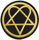 HIM HEARTAGRAM LOGO EMBROIDERED IRON ON PATCH OFFICIAL